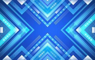 diamante quadrado geométrico gradiente azul vetor