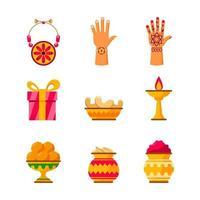 elementos de celebração raksha bandhan vetor