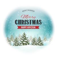 Cartão da paisagem do Natal vetor