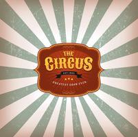 Fundo de circo retrô com textura vetor
