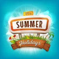 Fundo de férias de verão vetor