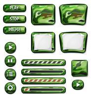 Elementos de ícones militares Camo para jogo de interface do usuário