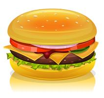 Ícone de hambúrguer vetor