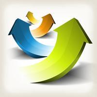 Setas de sucesso nos negócios vetor