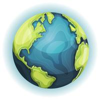 Planeta Terra dos desenhos animados vetor