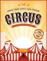 Cartaz de circo vintage verão com grande topo