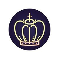 ícone da coroa do rei real isolado vetor