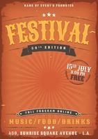 Cartaz do Grunge do festival de música vetor