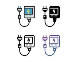 conjunto de ícones de banco de potência vetor