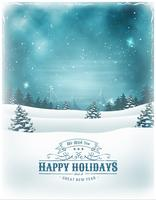 Férias de Natal e ano novo fundo vetor