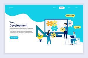 Banner da Web de desenvolvimento da Web vetor