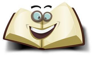 Ícone de personagem grande livro vetor