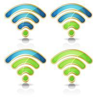 Conjunto de ícones Wi-Fi para Tablet PC Ui Game