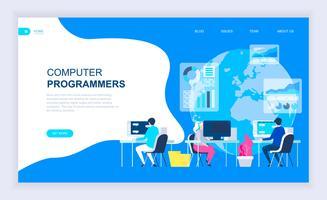 Banner da Web de programadores de computador vetor