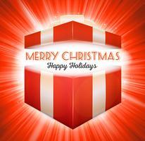 Caixa de presente aberto de Natal vetor