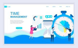 Banner da Web de gerenciamento de tempo vetor