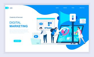 Banner da Web de marketing digital vetor