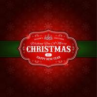 Fundo de enfeite de Natal feliz vetor