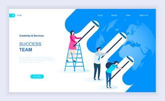Banner da Web da equipe de sucesso