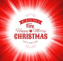 Fundo de desejos de feliz Natal vetor