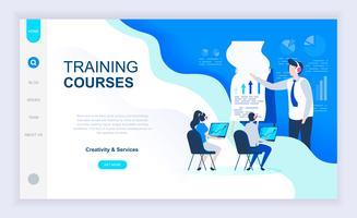 Banner da Web de cursos de treinamento vetor