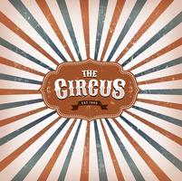 Fundo de circo vintage com raios de sol vetor