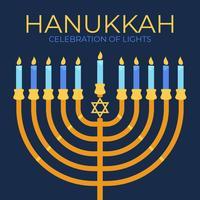 Cartaz de Hanukkah vetor