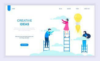 Banner de idéia criativa vetor