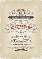 Poster de convite vintage vetor