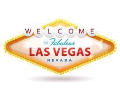 Bem-vindo ao fabuloso sinal de Las Vegas vetor