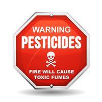Aviso perigo de pesticidas