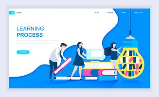 Banner da Web do processo de aprendizagem vetor