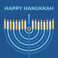 Feliz Hanukkah vetor