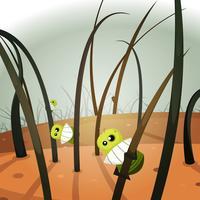 Invasão dos piolhos dentro da paisagem peludo