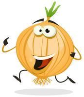 Personagem de desenho animado feliz cebola