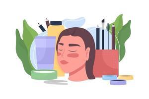 tratamento de beleza, ilustração vetorial de conceito plano de cosmetologia vetor