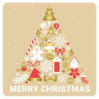 Vector Design de cartão de saudação de Natal