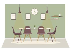 Vector Dinning Room Ilustração