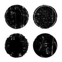 Grunge texturizado selos de selo redondo vetor