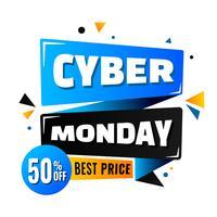 Projeto de pôster de venda Cyber segunda-feira vetor