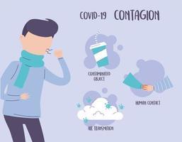 covid 19 infográfico pandêmico, dicas para prevenir a propagação de doenças vetor