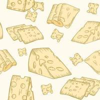 padrão sem emenda com vetor de queijo