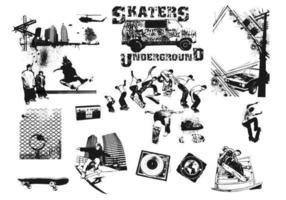 Pacote do vetor dos skateres