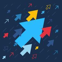 Setas para cima, aumento e sucesso ilustração de negócios vetor