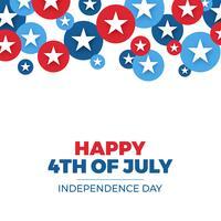 Projeto do dia da independência. Férias em Estados Unidos da América vetor