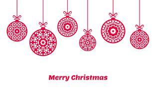 Enfeites de bolas de Natal, decoração de Natal, ilustração