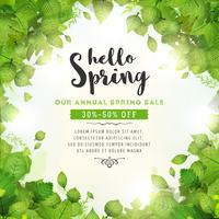 Fundo anual de venda de primavera vetor