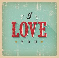 Eu te amo cartão vetor