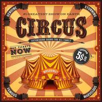 Cartaz quadrado do circo do vintage vetor