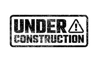 Sob o projeto de construção, design de desenvolvimento de site, ilustração